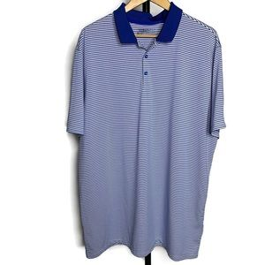 Nike Golf Pro Blue & White Striped Polo Shirt